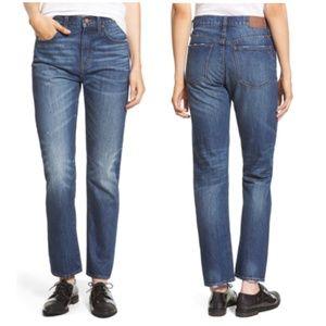 Madewell Straight Leg Crop Jean in Preston